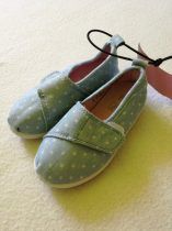 F&F kék fehér csillagos tépőzáras cipő (22)