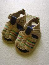 Mothercare kocsicipő-szandál barna vászon ÚJ (15)