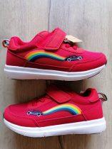 Next sportcipő piros, szivárvány-autó mintás ÚJ-címkés (26,5)