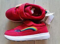 Next sportcipő piros, szivárvány-autó mintás Új-címkés (25,5)