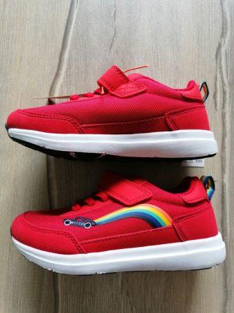 Next sportcipő piros, szivárvány-autó mintás Új-címkés (28)