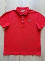 Lacoste póló piros színű, galléros (164)
