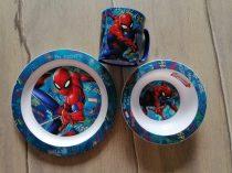 Marvel étkészlet Pókember mintás, bögrével ÚJ