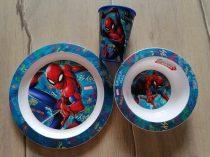 Marvel étkészlet Pókember mintás, pohárral ÚJ