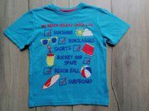 Primark póló v.kék, nyári mintás (122)