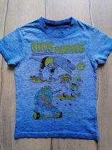 Debenhams póló kék, sportoló dinó mintás (122)