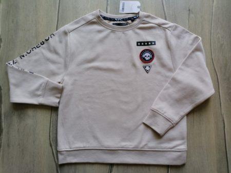 Next pulóver világos, koponya dísszel Új-címkés (128)