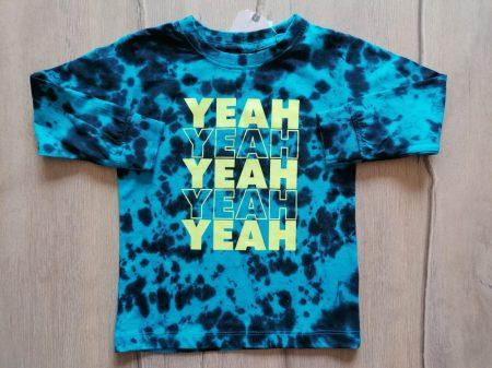 Next póló h.ujjú kék színű, feliratos Új-címkés (92)