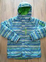 Camprio kabát kék-zöld-fehér csíkos (158)