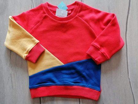 Next pulóver narancssárga, sárga, kék Új-címkés (80)