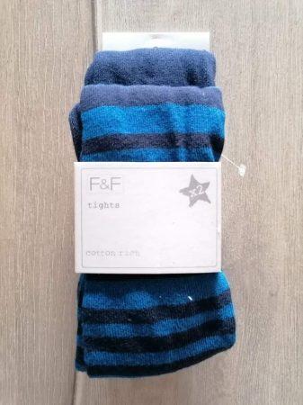 F&F harisnyanadrág szett 2db-os s.kék, csíkos Új-címkés (98)
