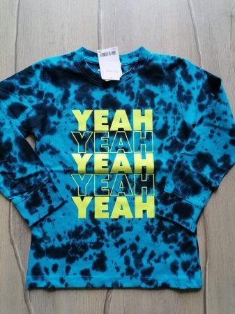 Next póló h.ujjú kék színű, feliratos Új-címkés (104)