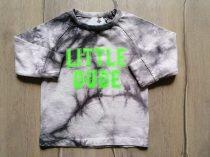 Next póló h.ujjú szürke márványos, feliratos Új-címkés (104)