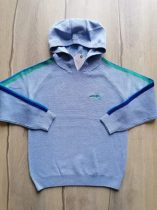 Next pulóver kapucnis gépi kötött, kék Új-címkés (122)