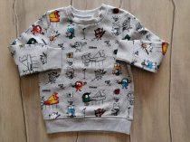 C&A pulóver szörnyecske mintás Új-címkés (110)