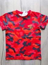 Next póló piros terep mintás Új-címkés (110)