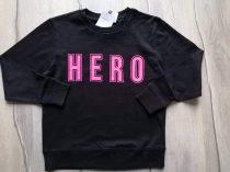 Next pulóver fekete, feliratos Új-címkés (116)