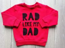 Primark pulóver piros, feliratos (92)