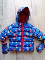 M&Co kabát kék, színes dinó mintás (68)