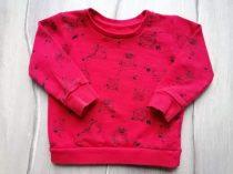 St Bernard pulóver piros, szörnyecske mintás (86)