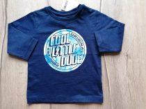 Next póló h.ujjú, s.kék, feliratos Új-címkés (74)