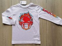 Next póló h.ujjú fehér, majom mintás Új-címkés (98)