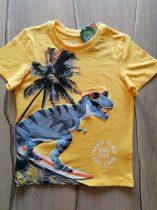 C&A póló sárga, szörfös dinó mintás Új-címkés (140)
