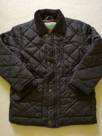 Next fekete átmeneti steppelt kabát (110)