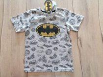 Batman póló szürke színű, mintás Új-címkés (128)