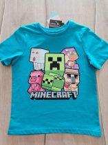Minecraft póló v.kék színű, mintás Új-címkés (104)