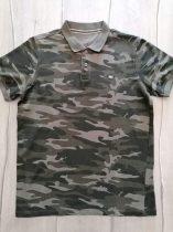 Cross Jeans póló, galléros, terep mintás (164)