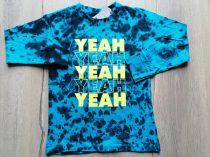 Next póló h.ujjú kék színű, feliratos Új-címkés (116)