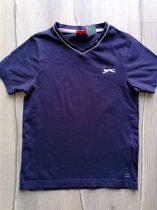 Slazenger póló s.kék, emblémás (128)
