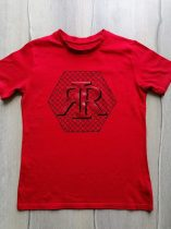 River Island póló piros, emblémás (128)