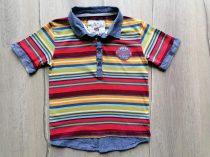 DEB póló galléros, színes csíkos (116)