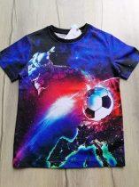 Next póló színes, focilabda mintás Új-címkés (122)