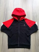 Next pulóver kapucnis, fekete, piros, fehér Új-címkés (134)