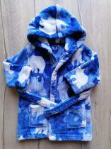 DEB fürdőköntös kék-fehér, medve mintás (86)