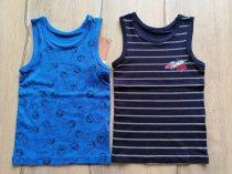 C&A trikó szett 2db-os kék, csíkos, űrhajós mintás Új-címkés (92)