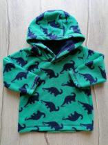 Matalan pulóver kapucnis, zöld, dinó mintás (80)