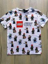 Next póló fehér, Lego City mintás Új-címkés (128)
