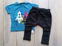 Next póló+nadrág szett 2db-os űrhajó mintás Új-címkés (80)