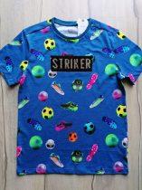 Next póló kék, simogatós, foci mintás Új-címkés (152)