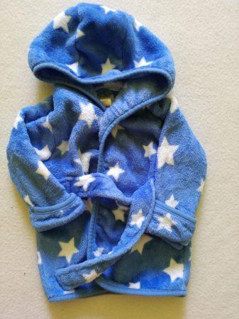 Kék alapon fehér csillagos köntös 0-3 hó