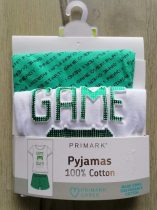 Primark pizsama Game Over feliratos Új-címkés (116)