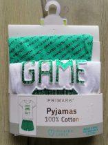 Primark pizsama Game Over feliratos Új-címkés (122)