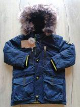 C&A kabát s.kék színű, kapucnis Új-címkés (98)