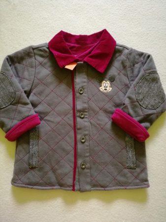 Disney Mickey kabát, átmeneti szürke-padlizsán lila (80)