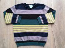 Bluezoo pulóver gépi kötött, színes csíkos (104)