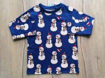 Next póló h.ujjú kék színű, hóember mintás Új-címkés (98)